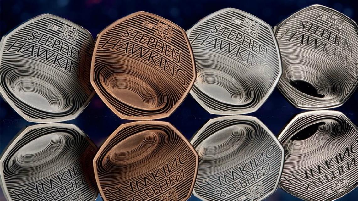 монета в памет на Стивън Хокинг
