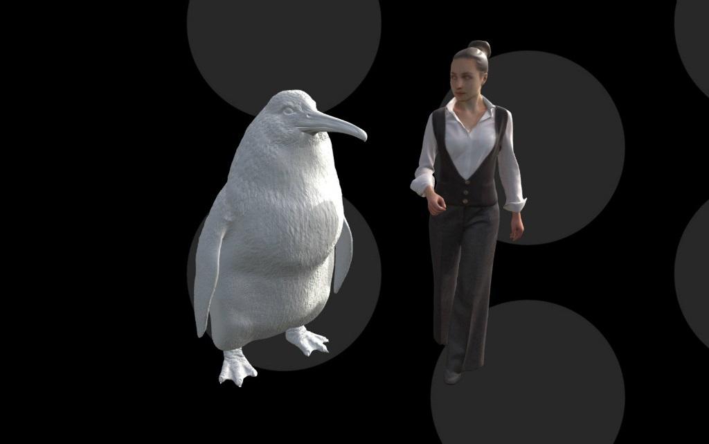 Откриха останките на древен пингвин с размерите на възрастен човек