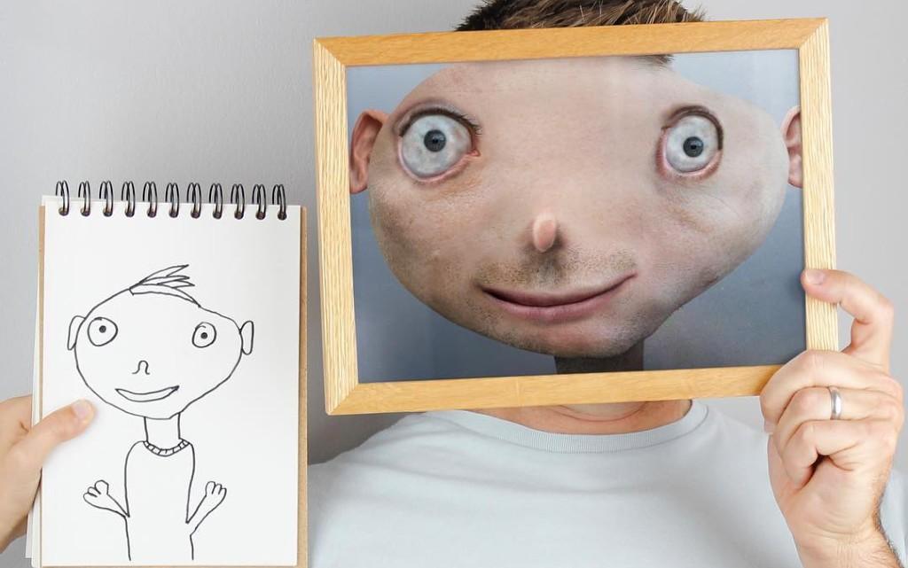 Другата реалност: баща вдъхна живот на рисунките на децата си